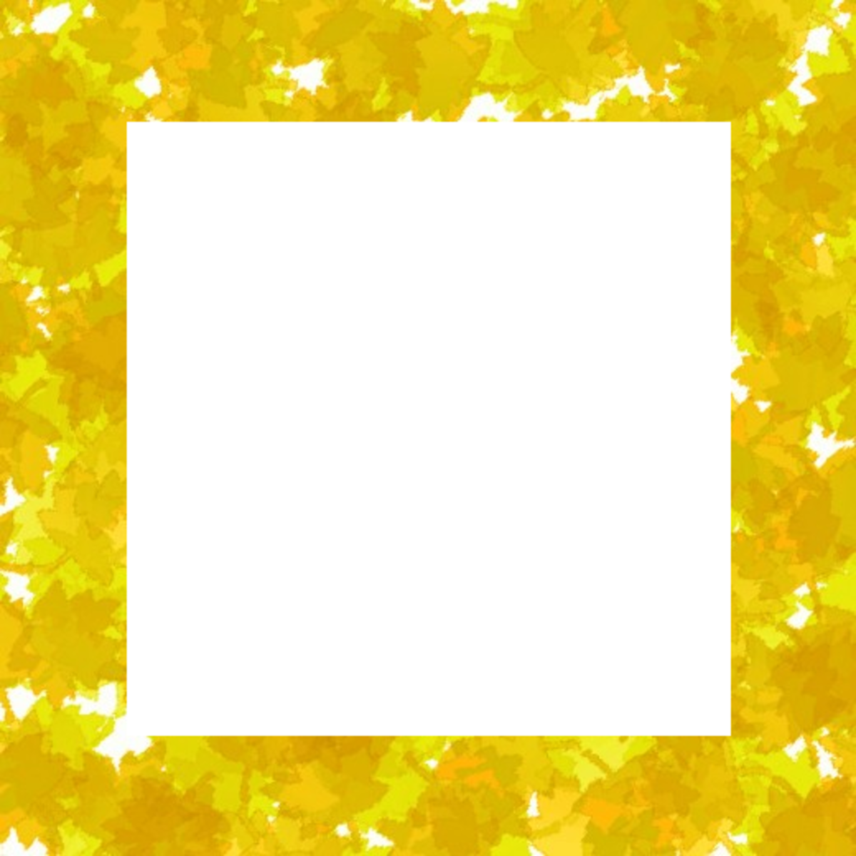Yellow fall leaves clipart frame.