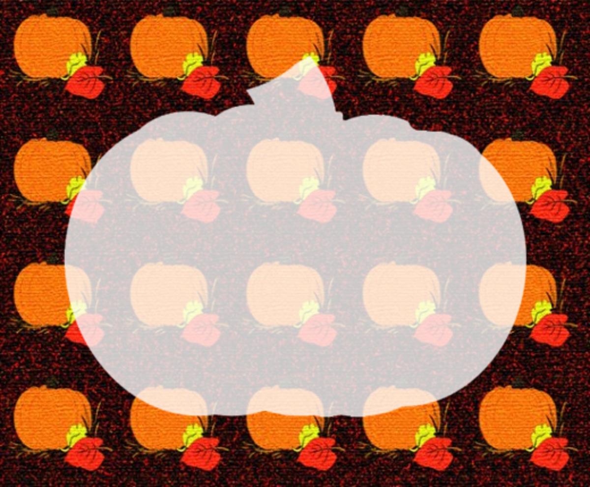 Ghosted pumpkin clip art frame.