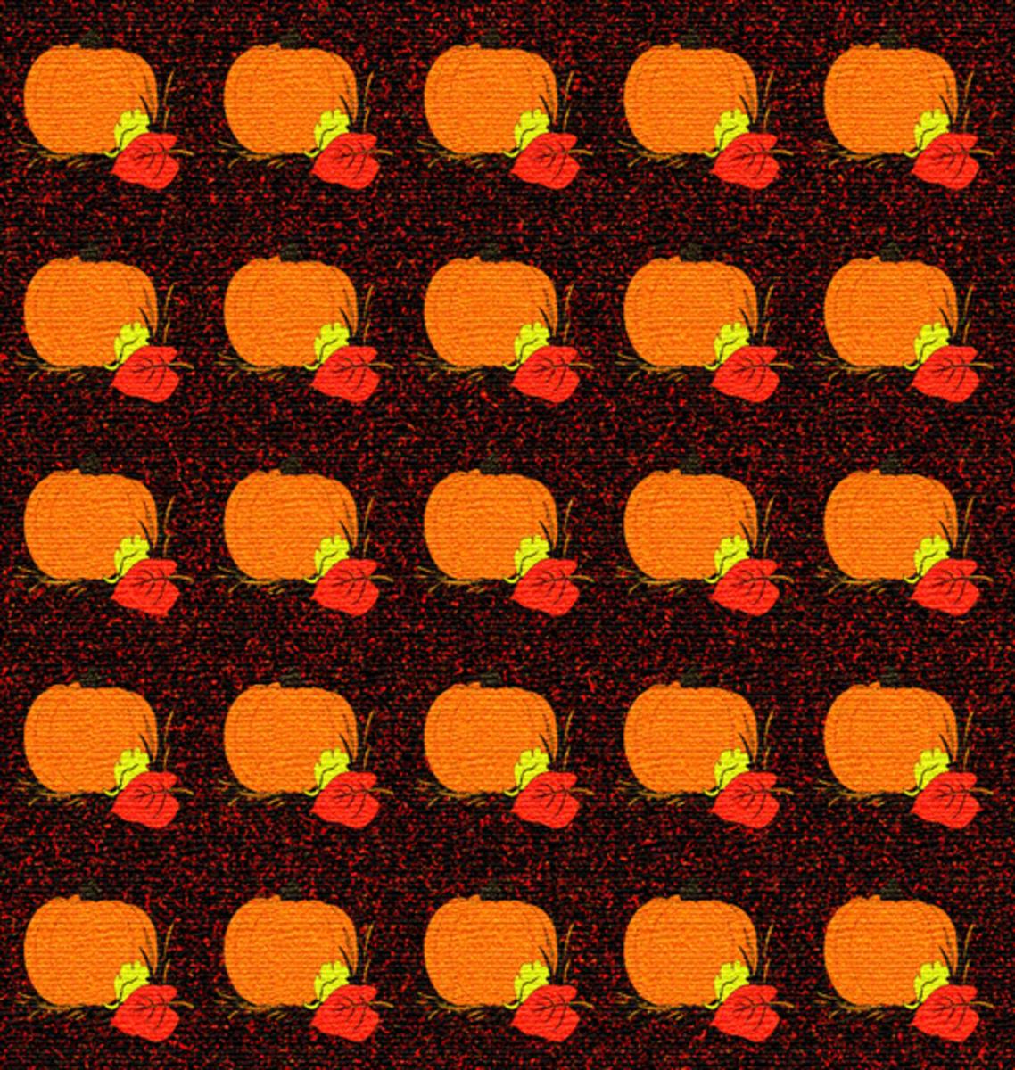 Fall harvest pumpkin pattern.