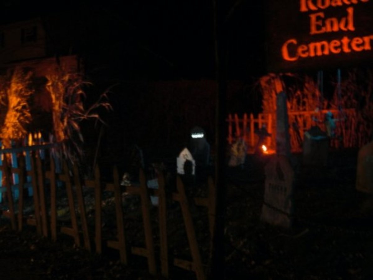 I can't imagine how much money it costs for this familiy to run this haunted house, but they have a new setup every year...and the setup is bigger than their house.