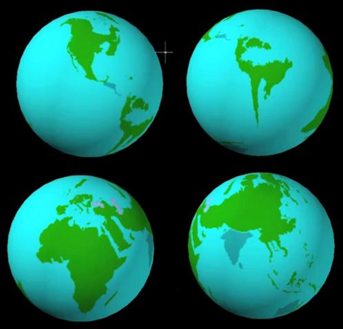 A possible look at the Earth's continents after the Polar Shift.