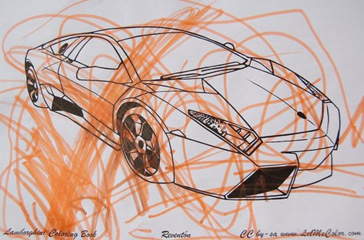 Sure, somebody didn't color the car neatly, but most people can STILL appreciate it. That's probably why opponents of coloring books think that it's OK to color outside the lines sometimes.