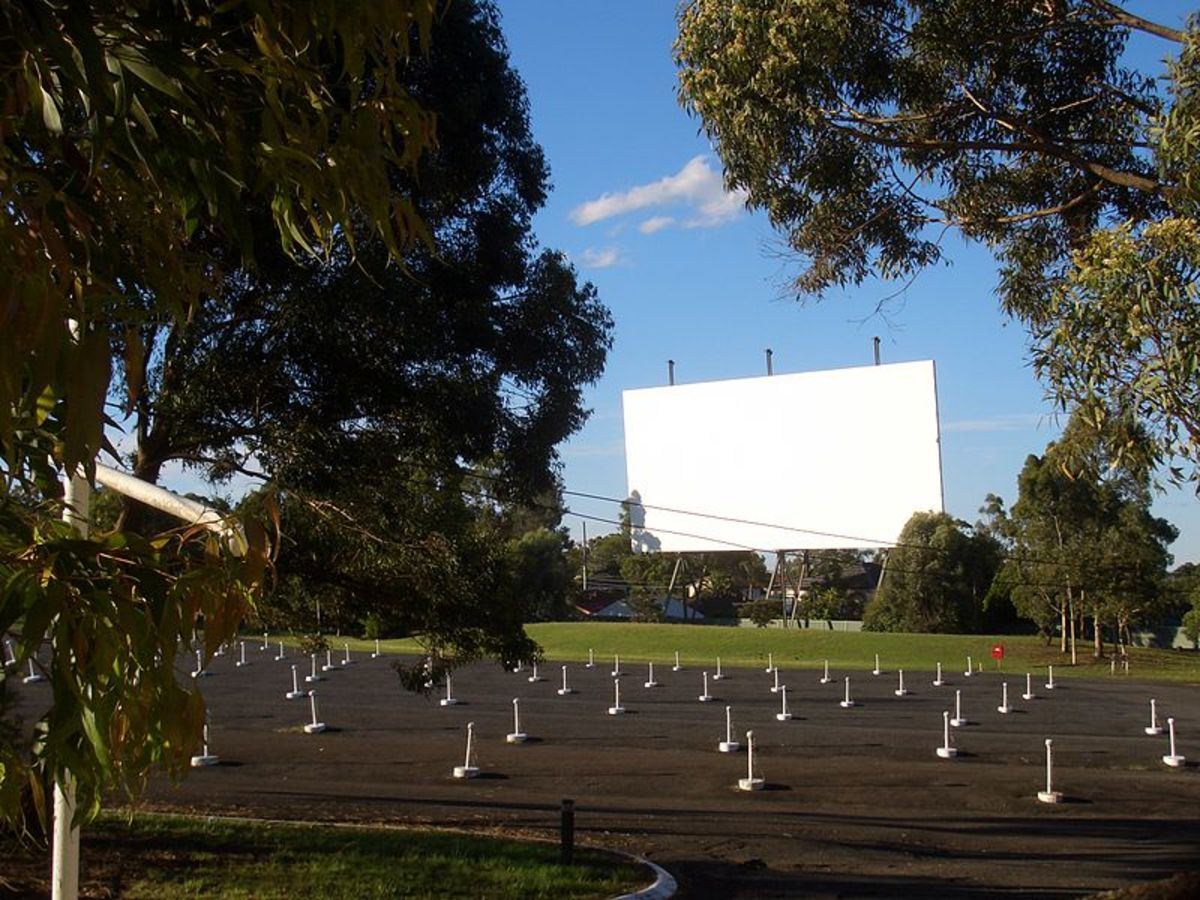 Bass Hill Drive In Movie Theater In Sydney Australia.
