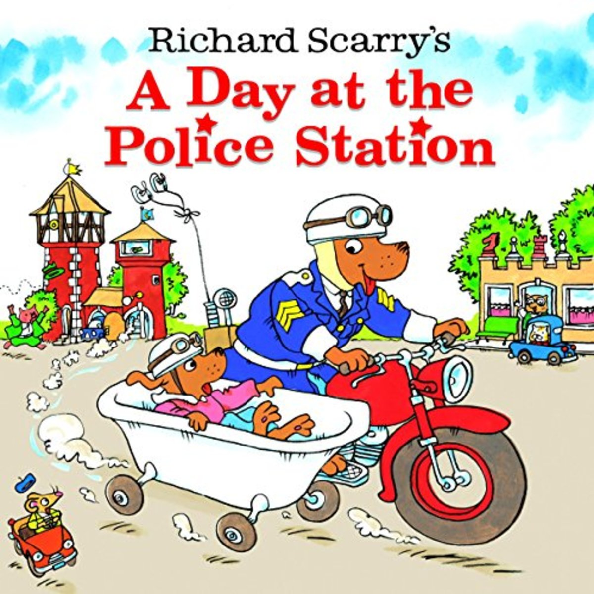 Richard Scarry's A Day at the Police Station (Look-Look) by Richard Scarry