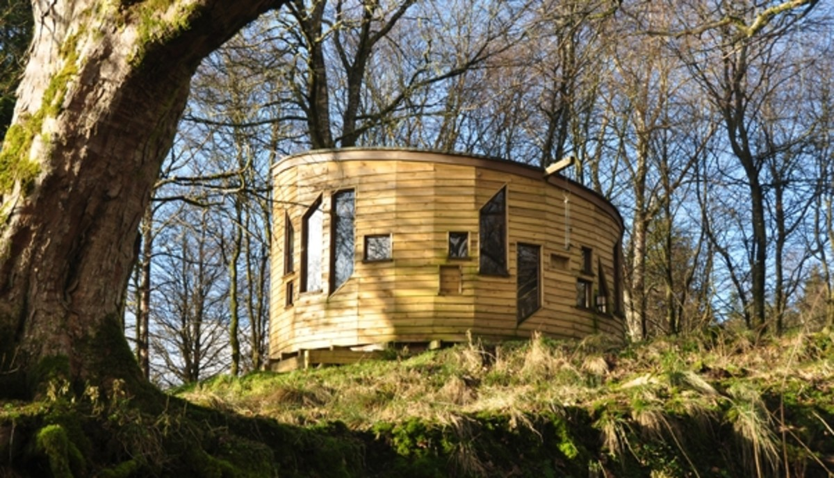 An architect designed hide to watch the wildfowl with all mod cons.