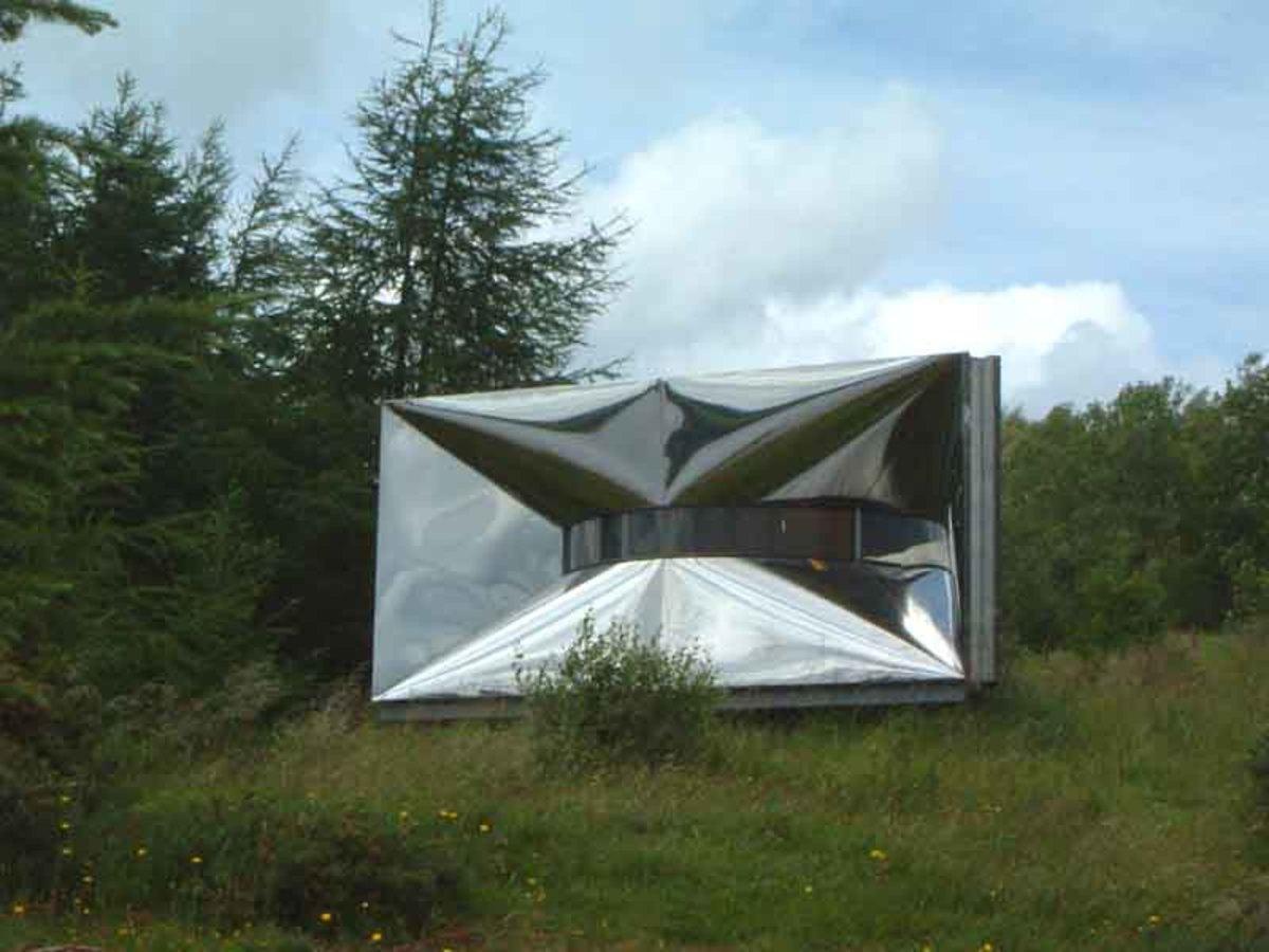 Belvdere modern art display near the lakeside