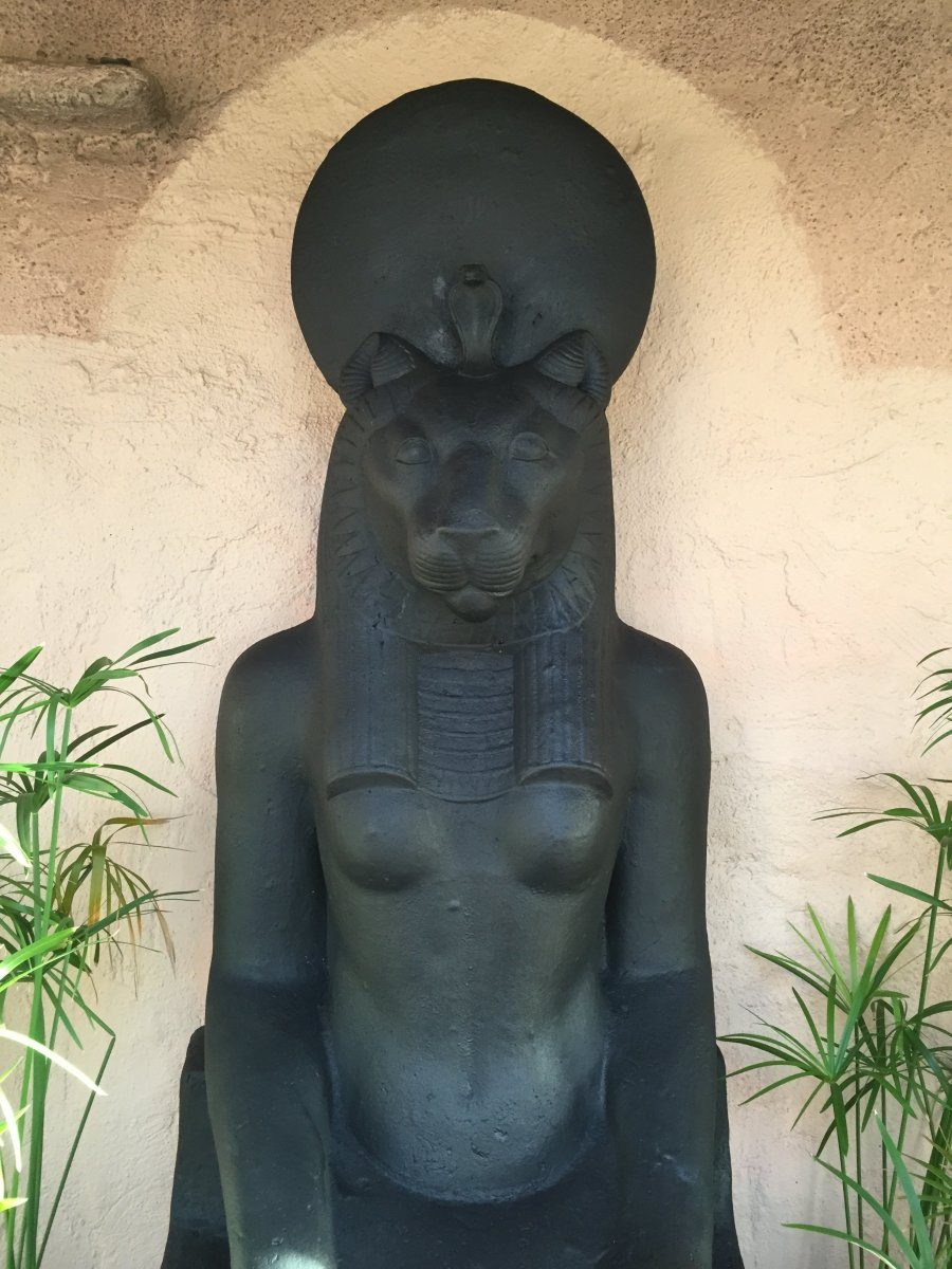 The new Sekhmet statue, installed and dedicated in the Temple in August 2014.