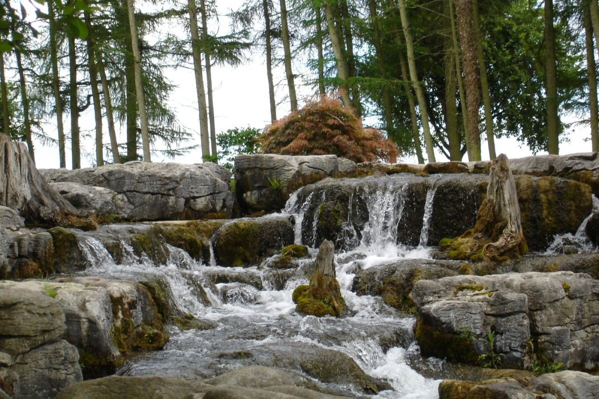 Waterfall at St Fiachra's Garden