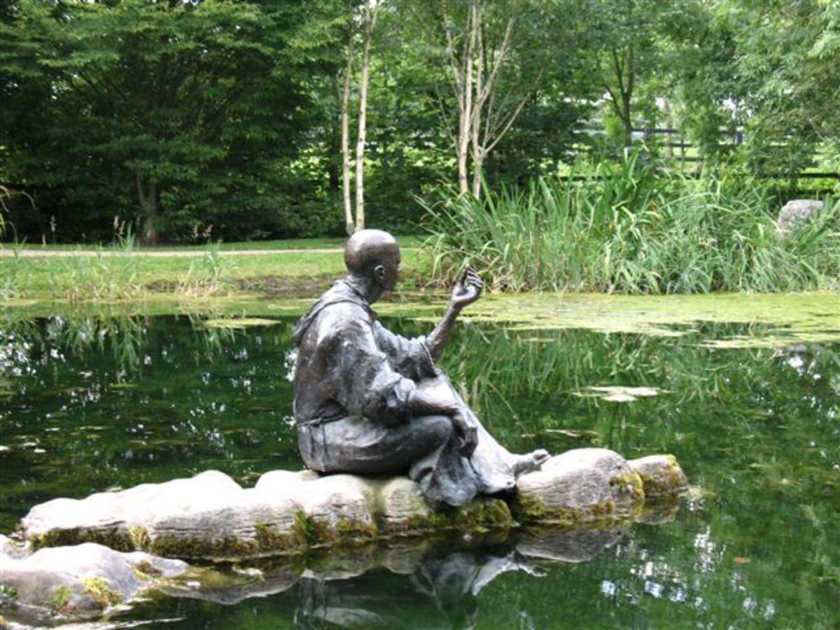 St Fiachra, patron saint of gardeners