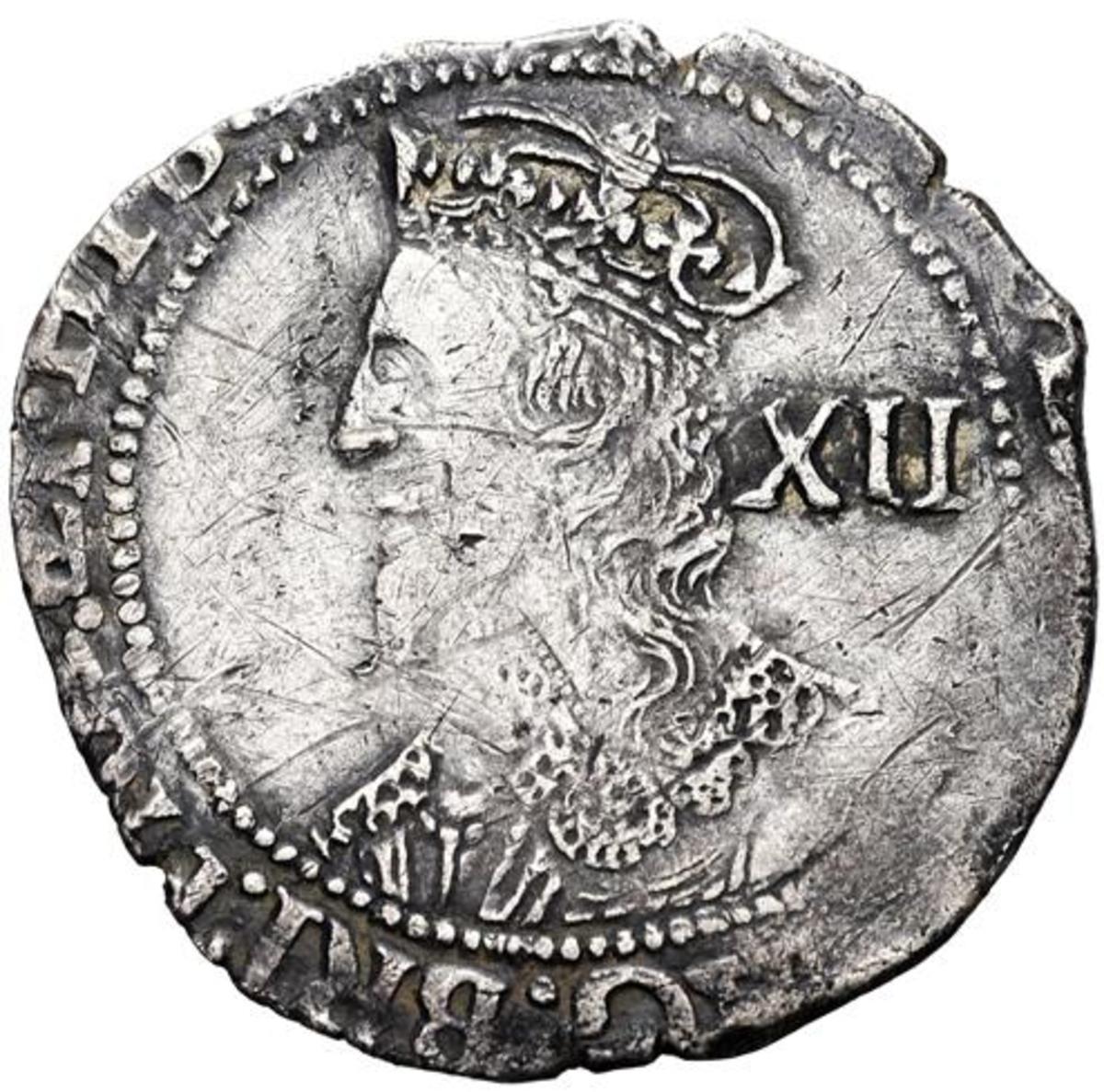 Shilling depicting Charles I