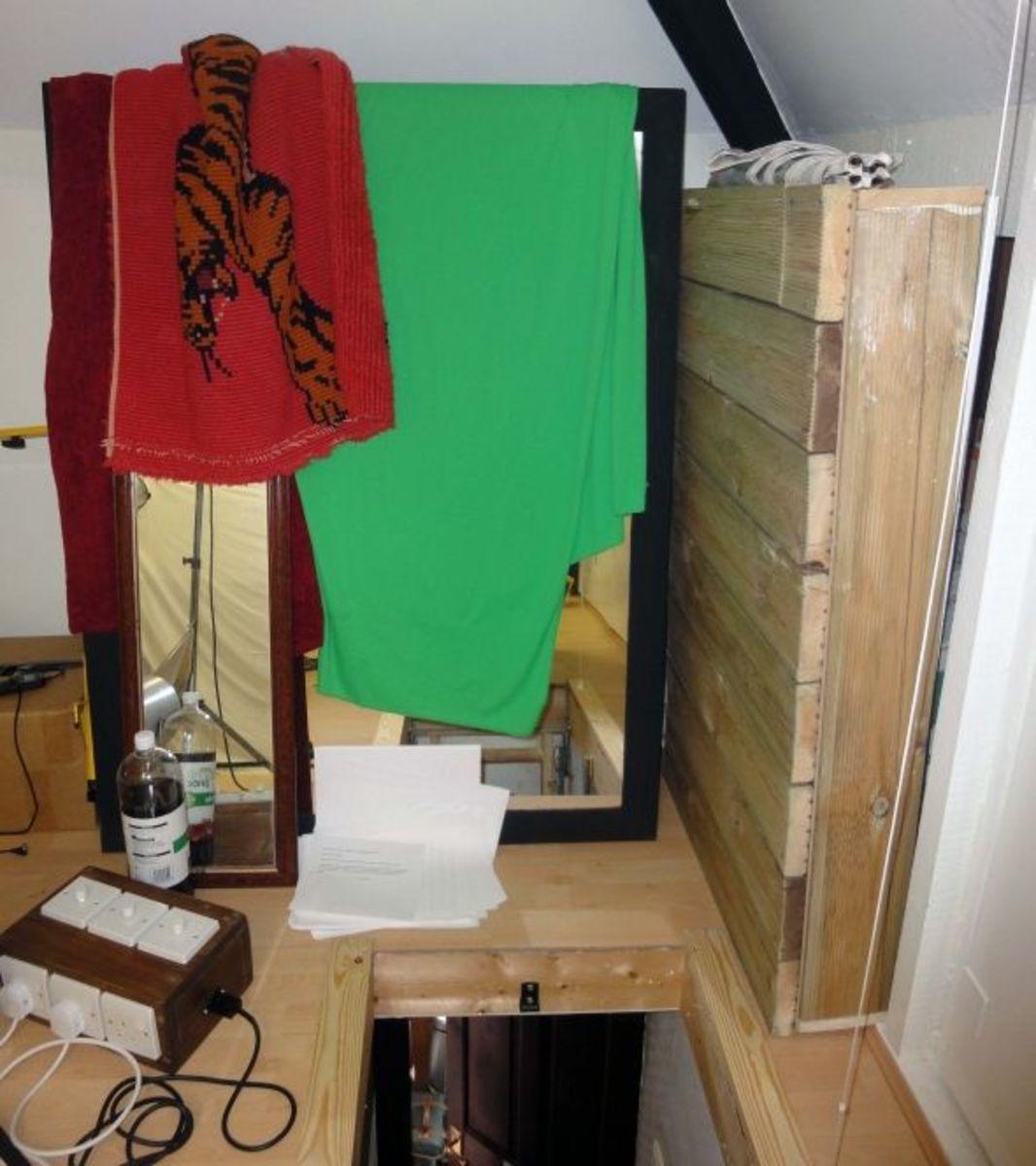 Studio Loft hatch over and mirror