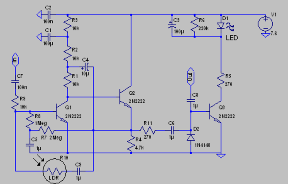 Automatic volume control and limiting circuit.