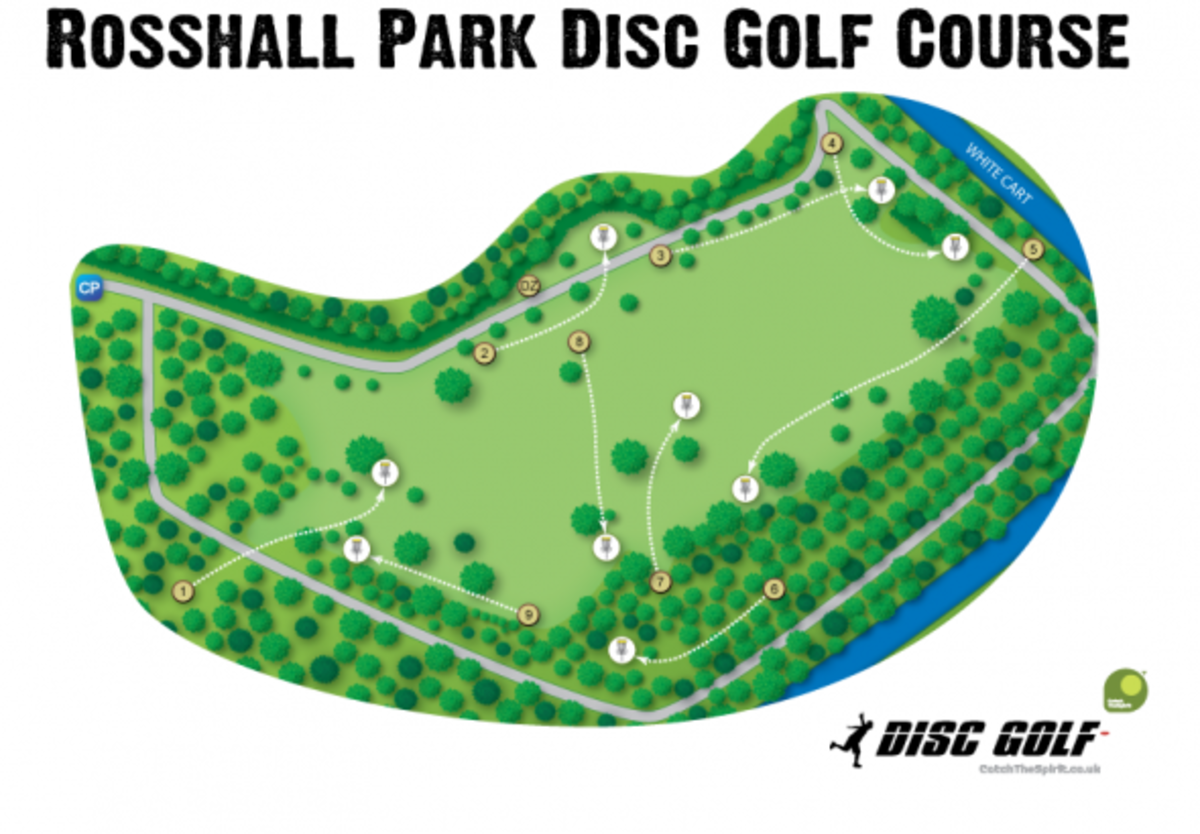 rosshall park disc golf course