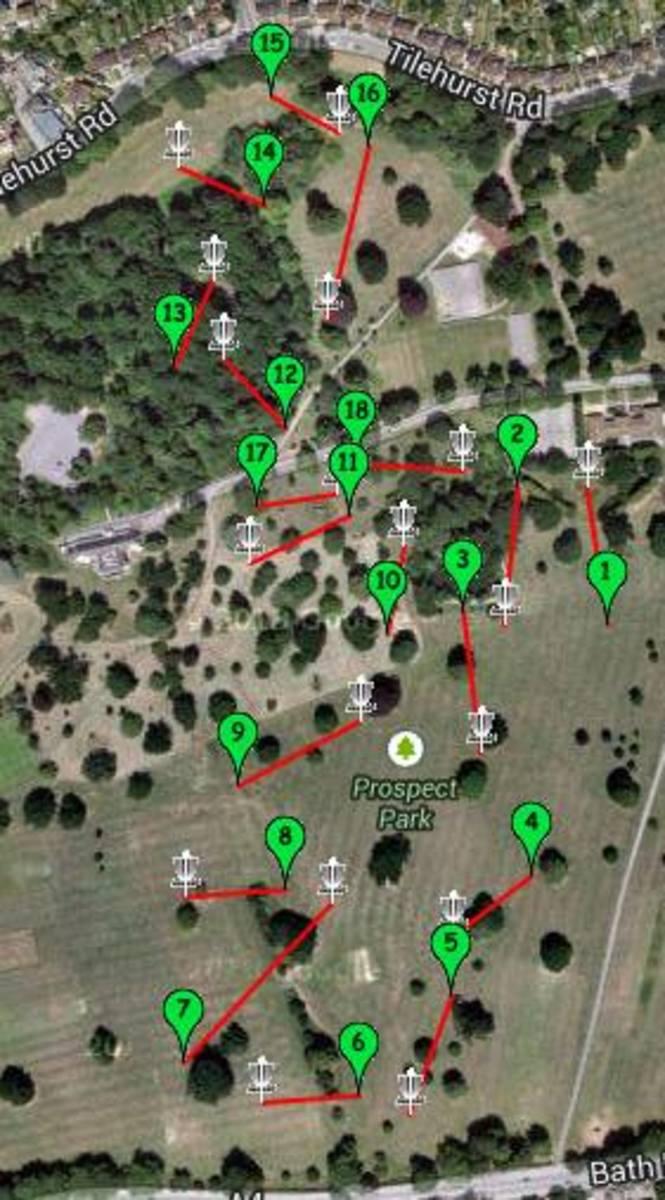 Prospect Park, Reading 18 hole course.