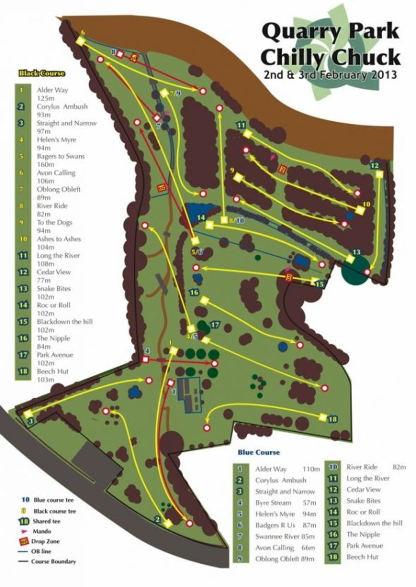 Quarry Park Black / Blue courses