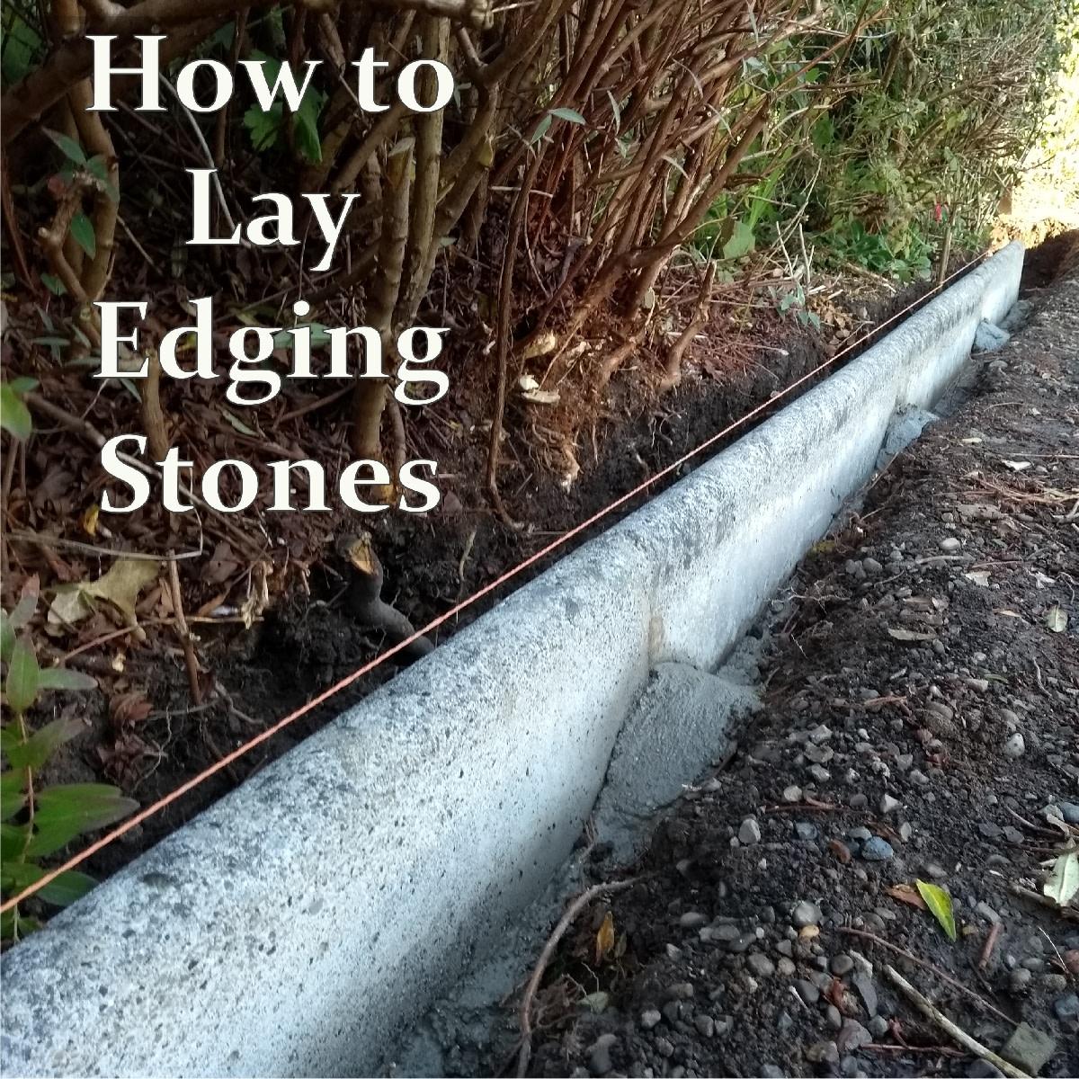 Laying Concrete Kerbs Along a Driveway