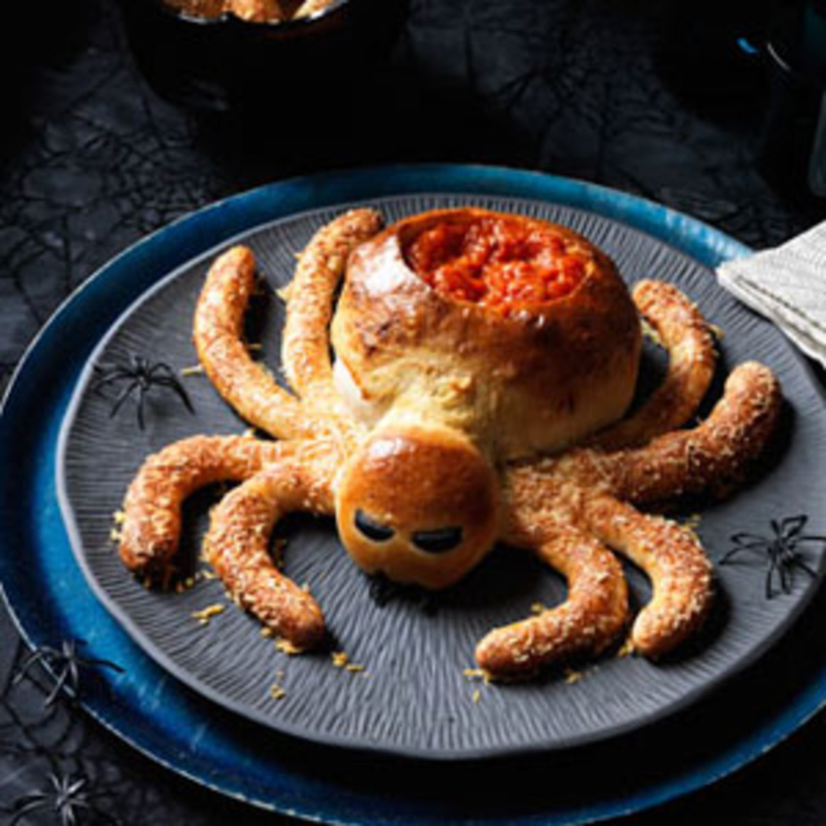 Spider Made From Bread Dough