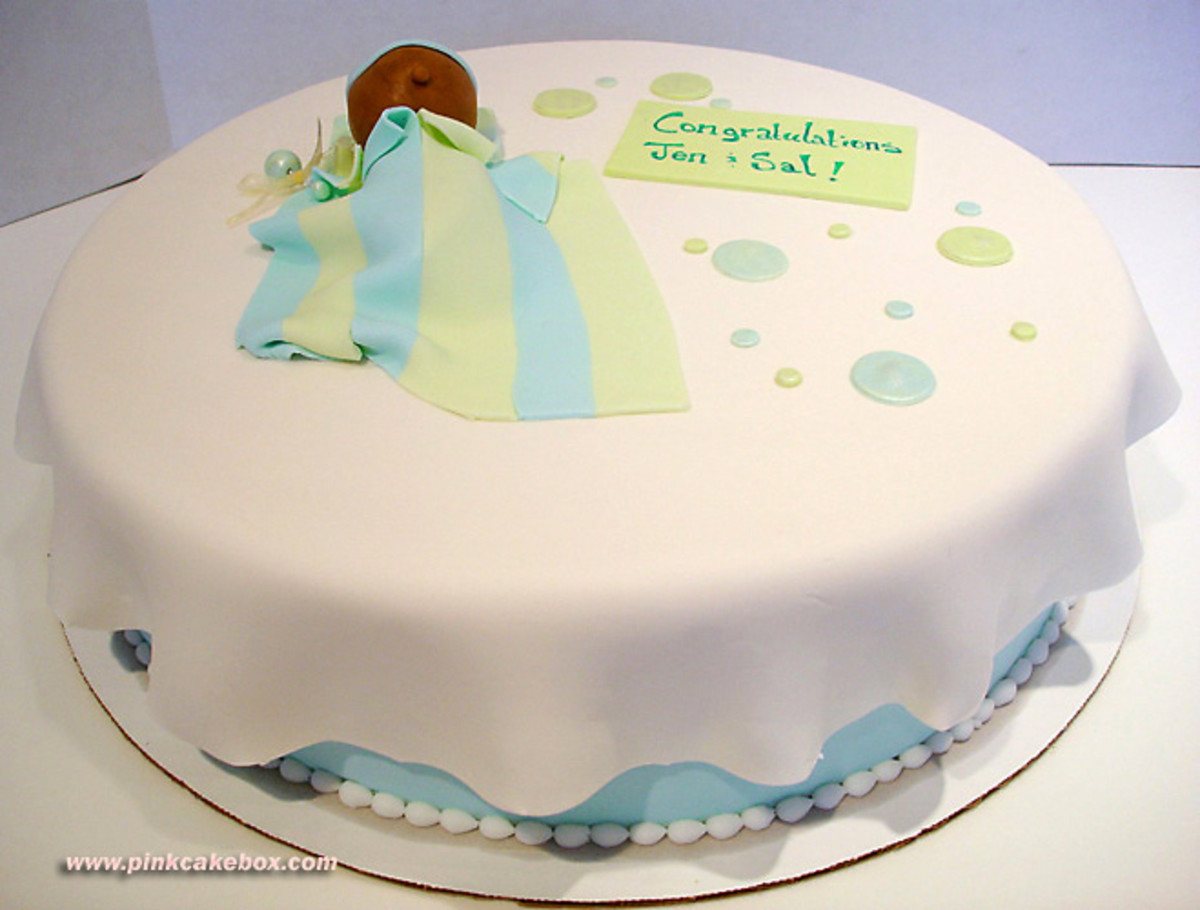 single layer baby shower cake