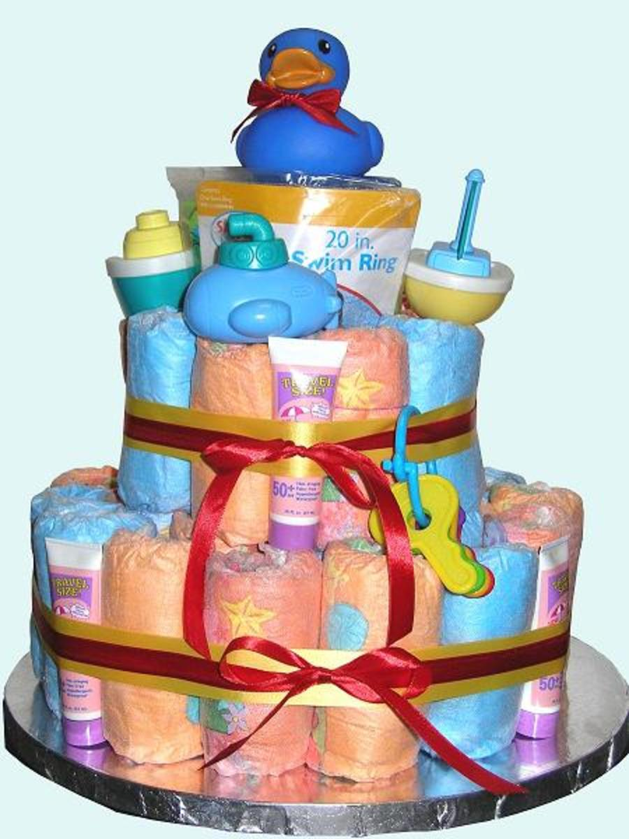 Diaper Cakes, Baby Shower Decorations, Baby Shower Ideas