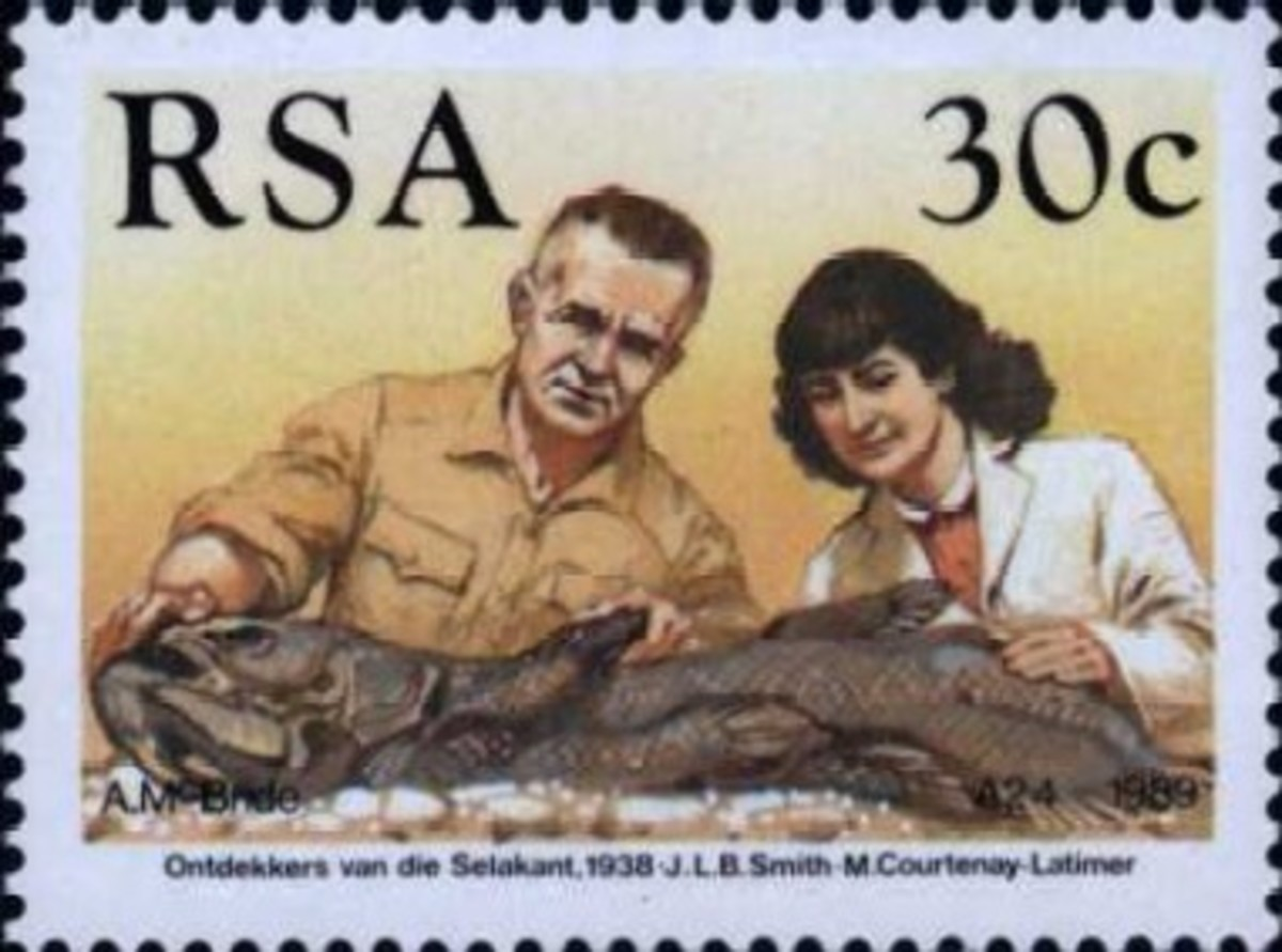 A Republic of South Africa postage stamp portraying Smith and Latimer