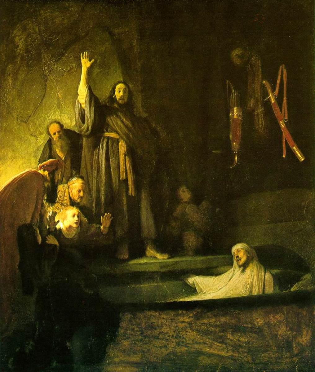 The Raising of Lazarus, Rembrandt.