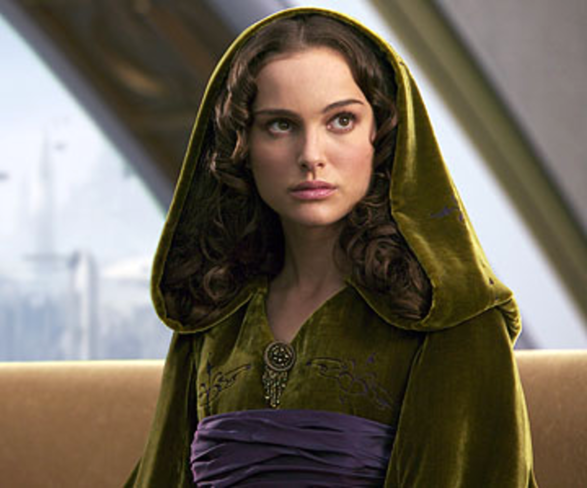 Since Episode Two, Anakin ans Padme's relationship has blossomed. They have married, and she is pregnant.