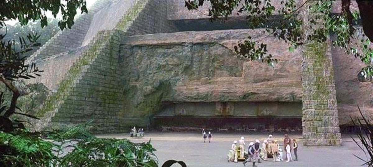 The ancient Jedi Temple was virtually destroyed by Imperial forces. Its also the place where Padme was killed by Palpatine.