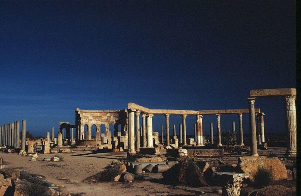 the market place, Leptis Magna