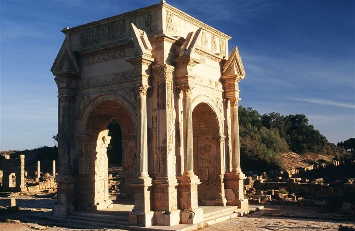 the Victory arch of Septimius Severus, Leptis Magna