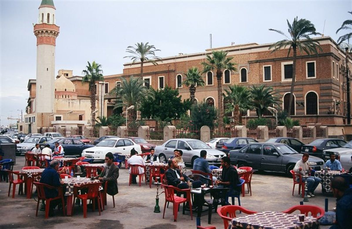 Tripoli, now the Martyr's Square, once the Green Square