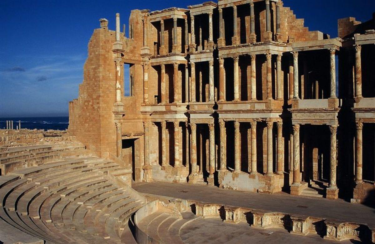 Sabratha, the theatre