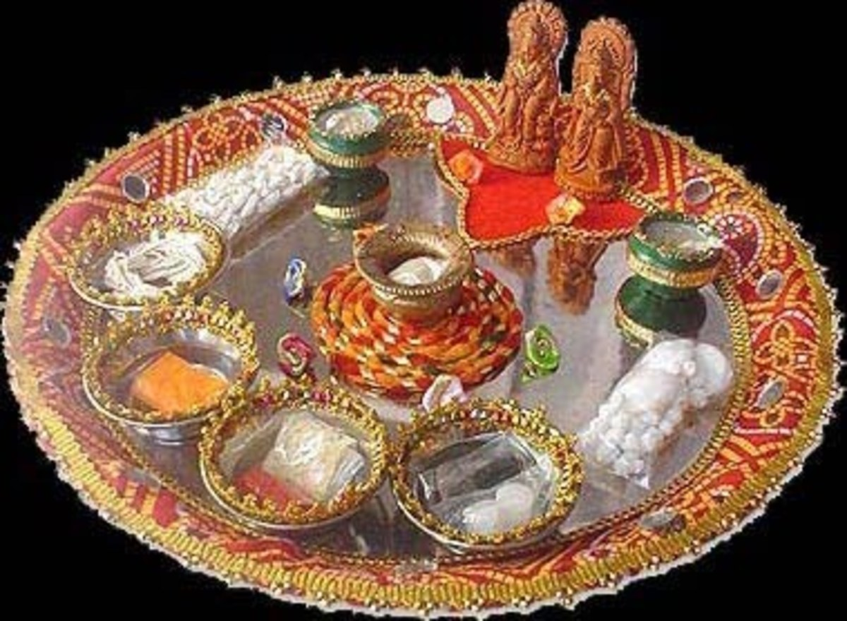 Example of a Karwa Chauth Thali