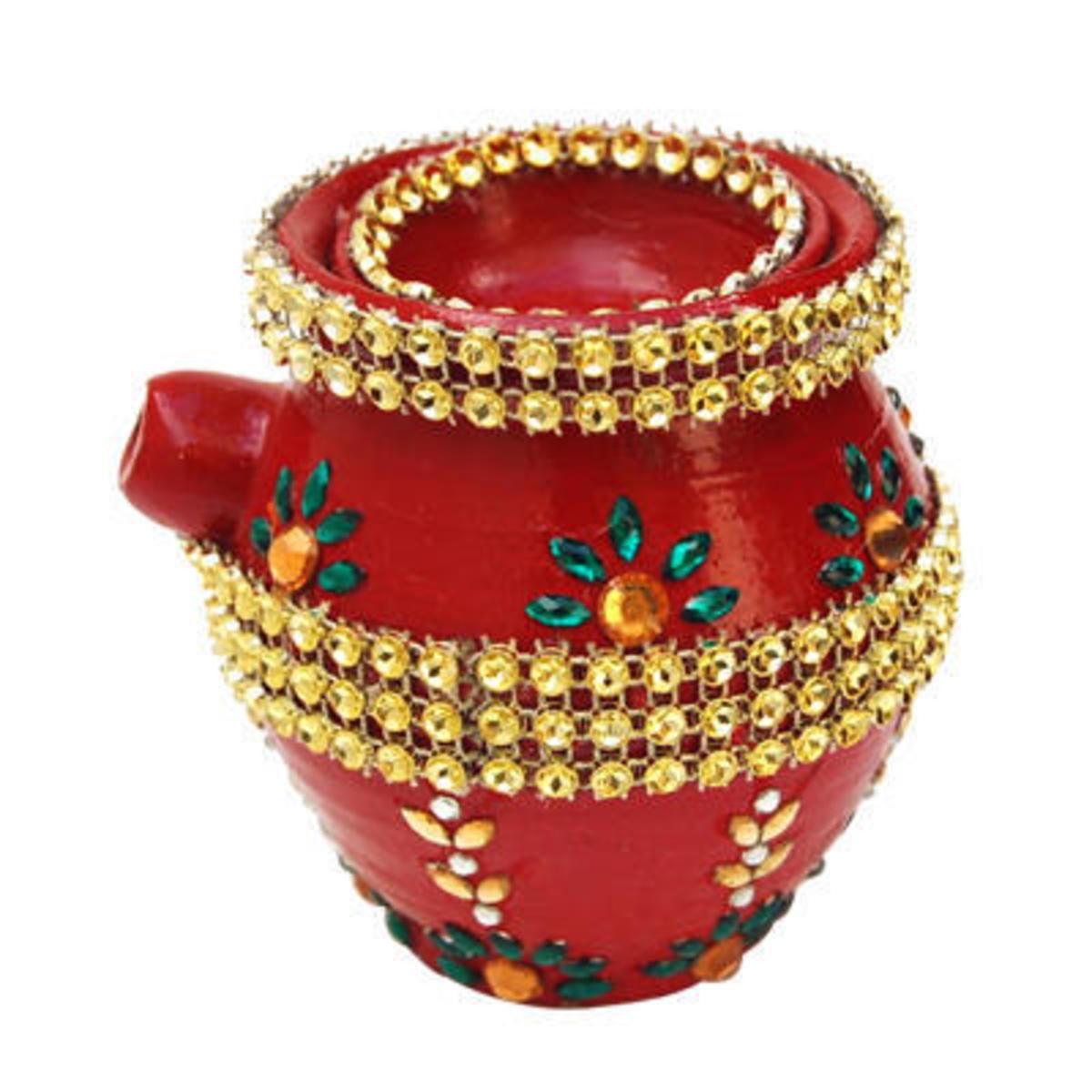 Example of a Kundan Karwa for Karwa Chauth Source:Indian Gift Portal