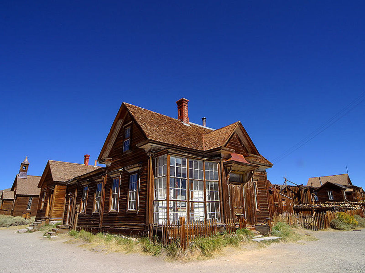 Bodie, California was photographed by Jon Sullivan on September 6, 2004. This ghost town is located in Mono County.