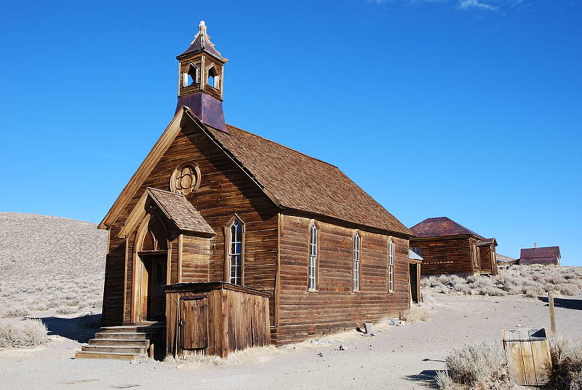 This church in Bodie was photographed by Mispahn on November 6, 2009