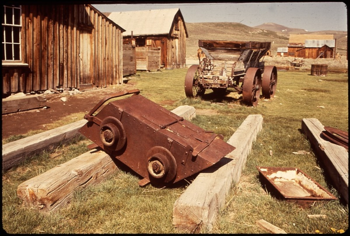 This scene in Bodie was photographed by Dick Rowan of the National Archives and Records Administration (NARA) in May 1972.