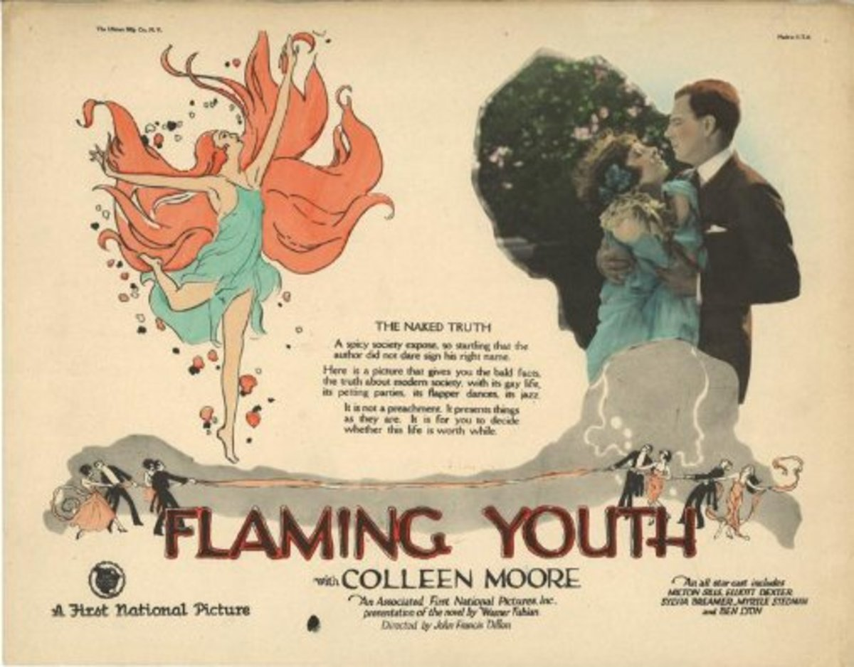 """Flaming Youth"" lobby card with Colleen Moore"