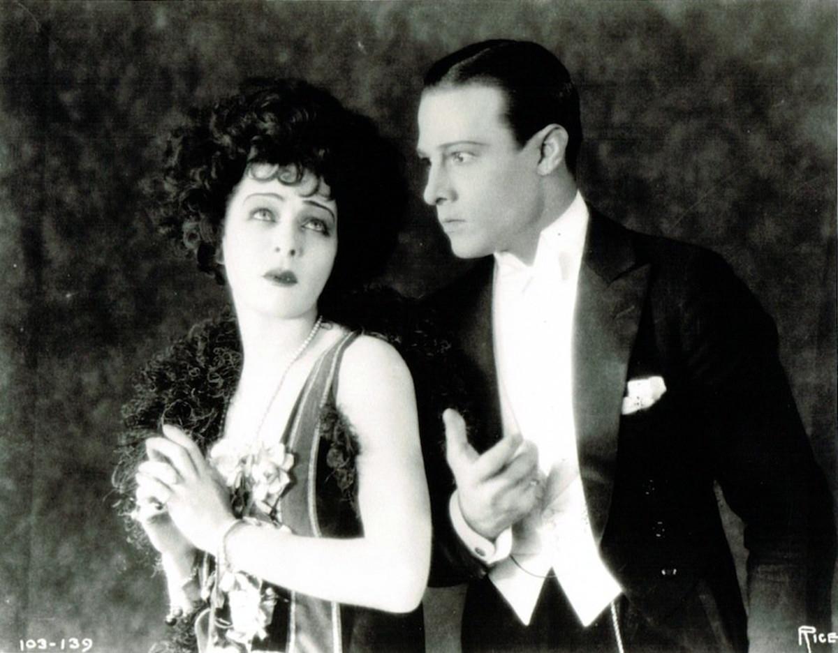"""Alla Nazimova and Rudolph Valentino in """"Camille"""""""