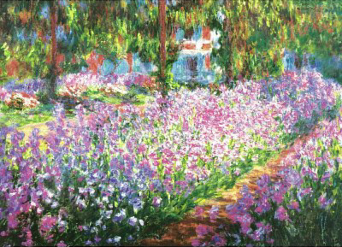 """Garden at Giverny"" by Claude Monet--Photo credit: Amazon.com"