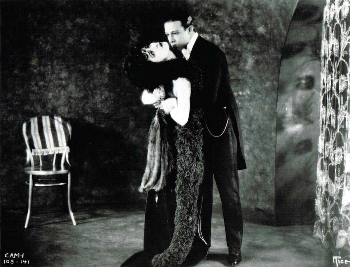 """Rudolph Valentino and Alla Nazimova in """"Camille"""""""