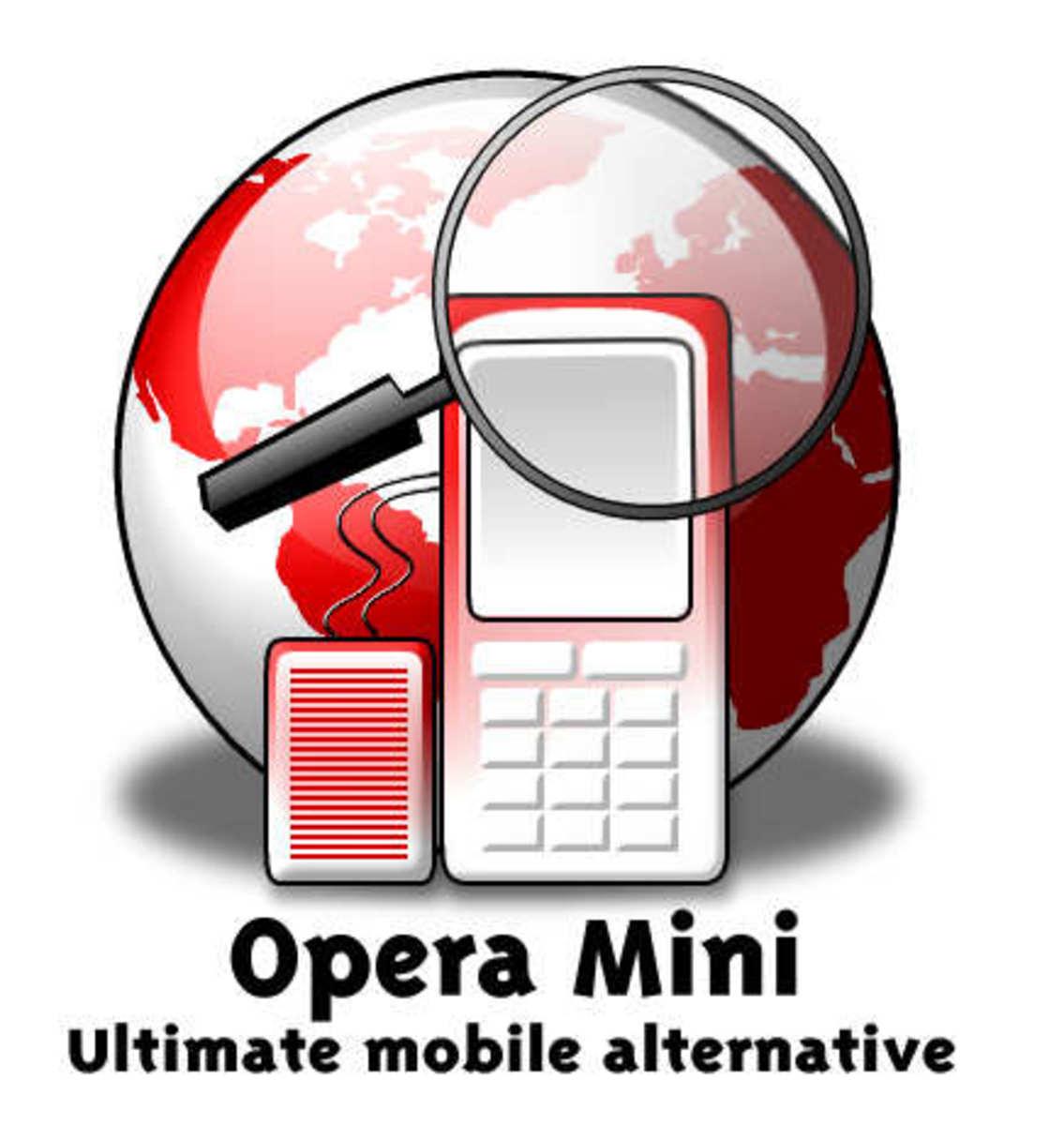 Opera mini logo. Image Courtesy of Opera Mini