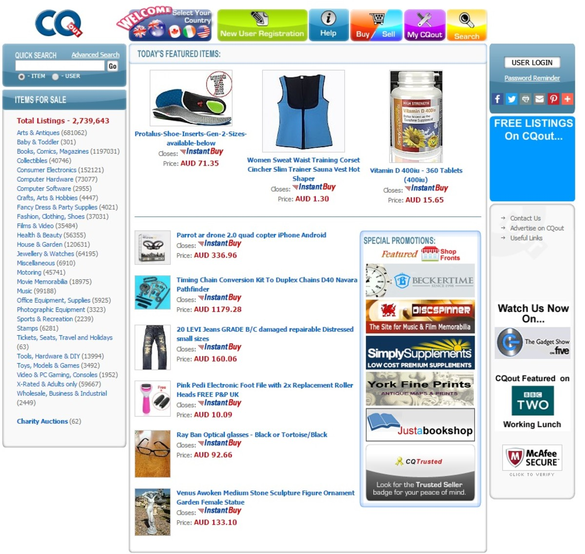 CQOut Home Page