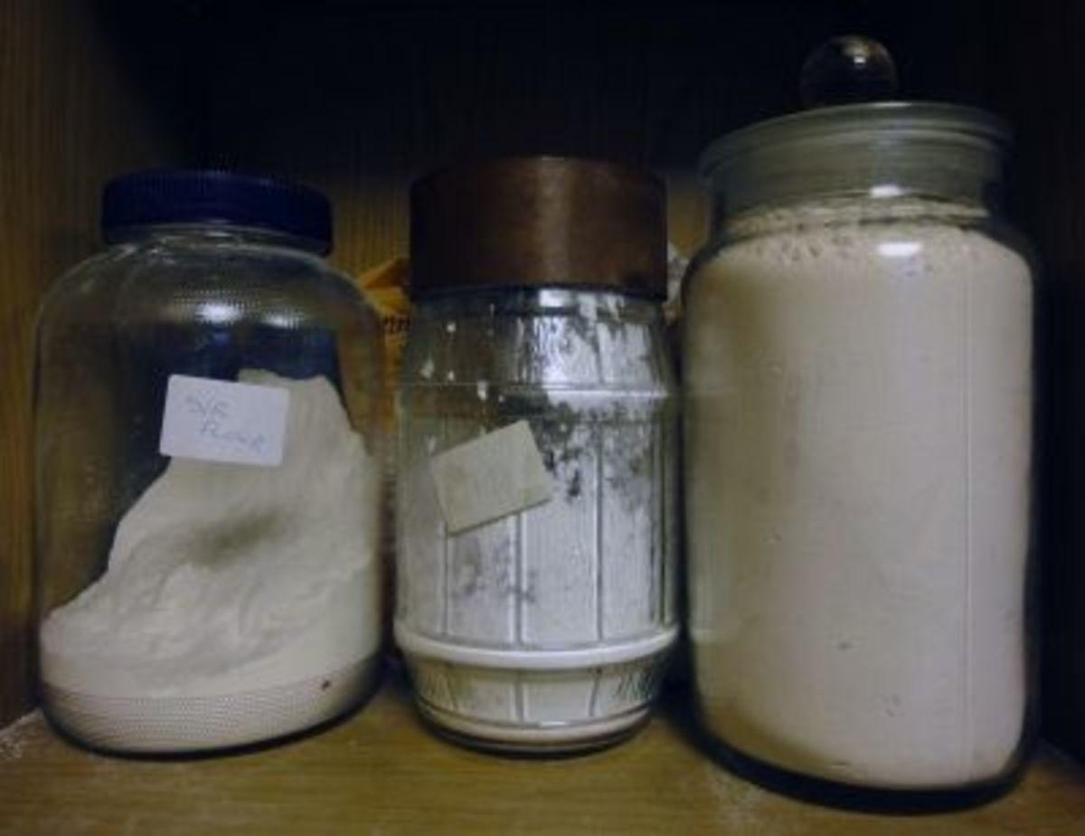 Glass Storage Jars in our kitchen