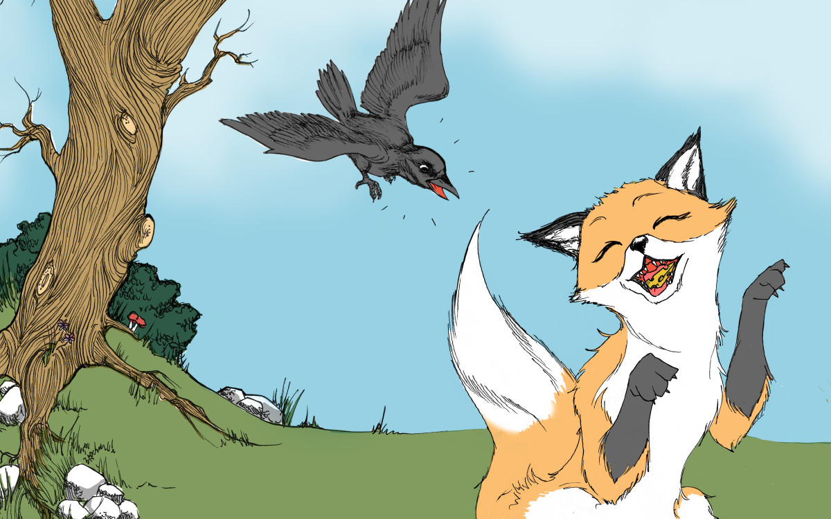 The Fox and the Crow: A Very Short Story for Kids with
