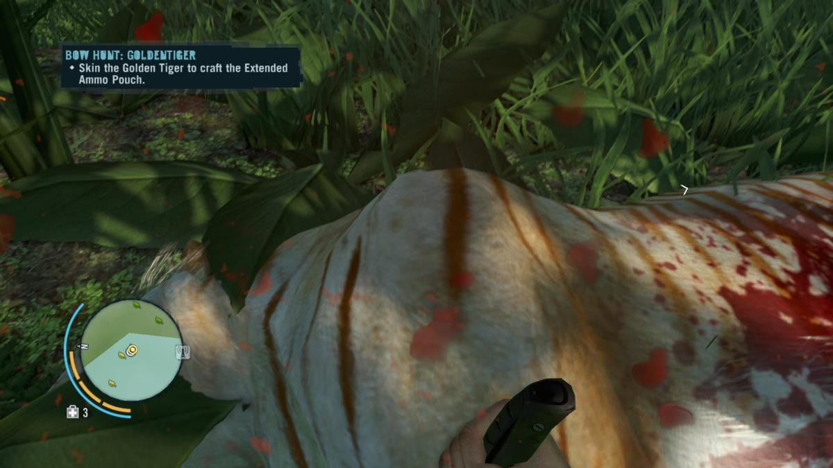 Far Cry 3 Crafting Guide - Extended Syringe Kit: Skin That Golden Tiger!