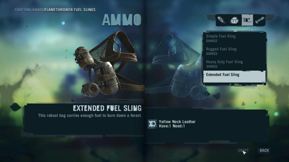 Far Cry 3 Crafting Guide - Extended Fuel Sling: Time to Craft!
