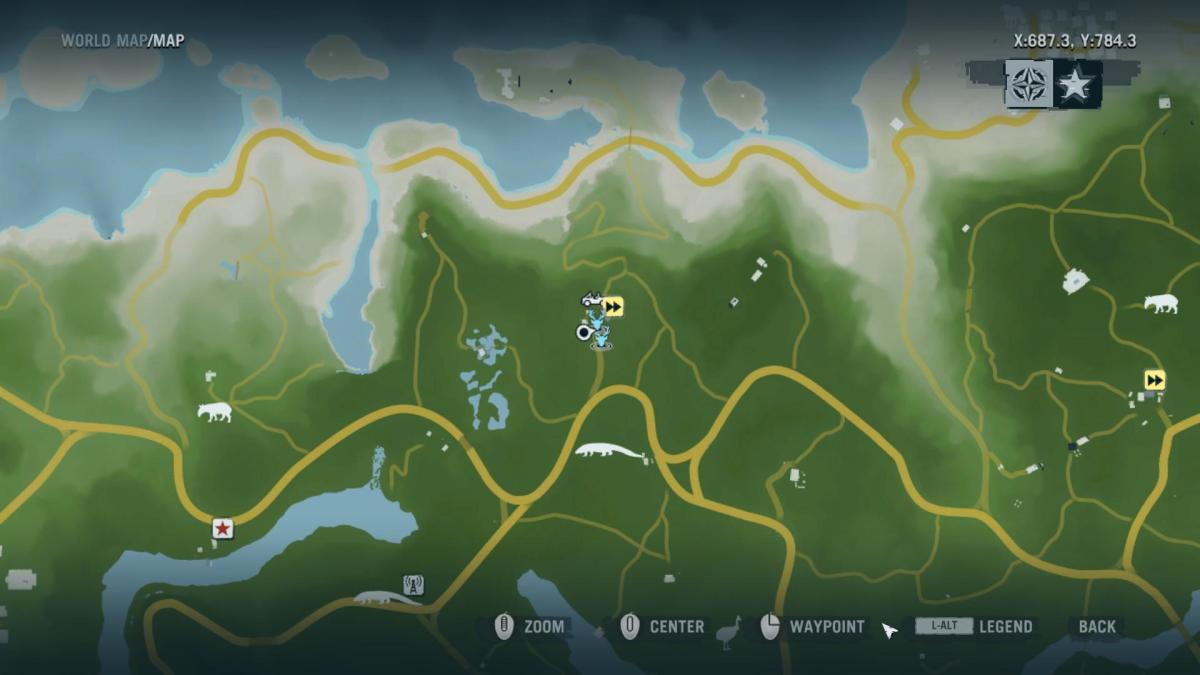 Far Cry 3 Crafting Guide - Extended Fuel Sling: Local Map.