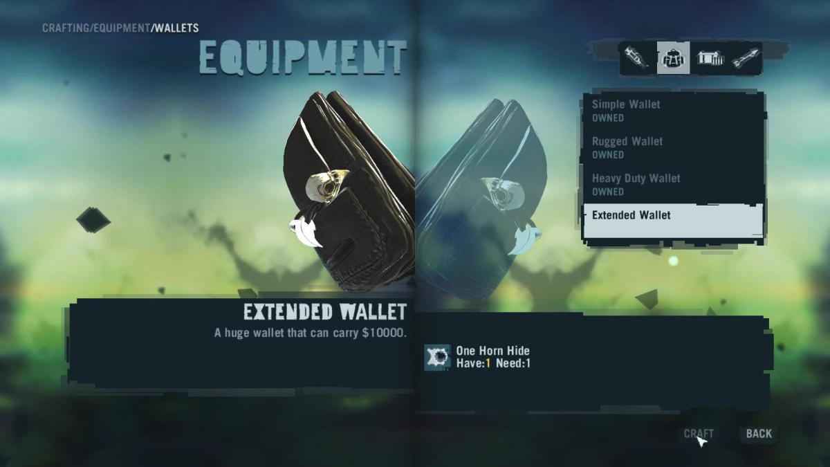 Far Cry 3 Crafting Guide - Extended Wallet - Crafting Time!