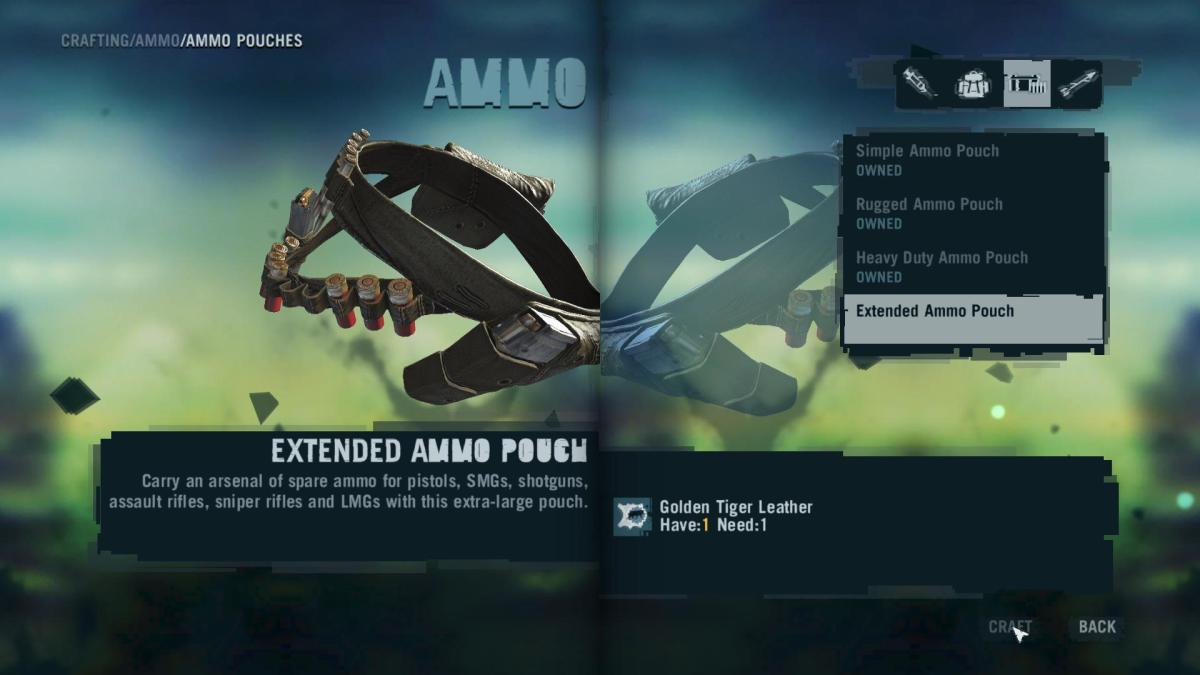 Far Cry 3 Crafting Guide - Extended Syringe Kit: Now Craft Your Ammo Pouch!