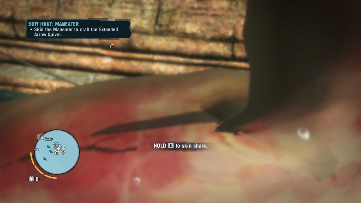 Far Cry 3 Crafting Guide - Extended Arrow Quiver: Skinning Time!